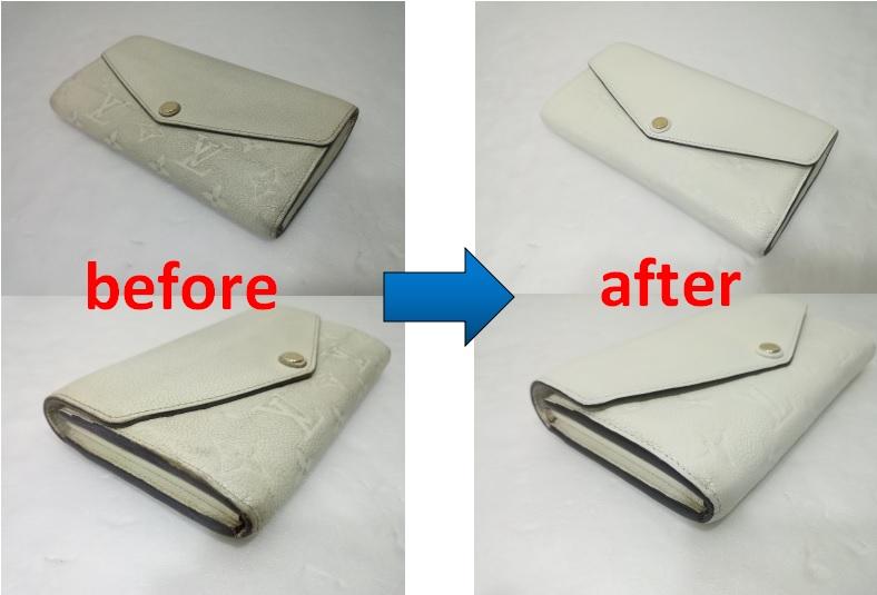 ルイヴィトン 長財布の修理事例