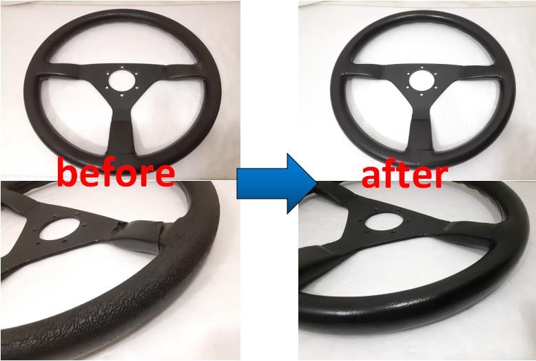 momo  自動車ステアリングハンドルの修理事例